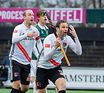 AMSTELVEEN - Mirco Pruyser (Adam) en Billy Bakker (Adam) protesteren   tijdens de hoofdklasse competitiewedstrijd heren, AMSTERDAM-ROTTERDAM (2-2). COPYRIGHT KOEN SUYK