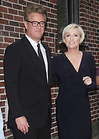 NEW YORK, NY - JULY 11: Joe Scarborough, Mika Brzezinski at The Late Show With Stephen Colbert in New York City on July 11, 2017. Credit: RW/MediaPunch