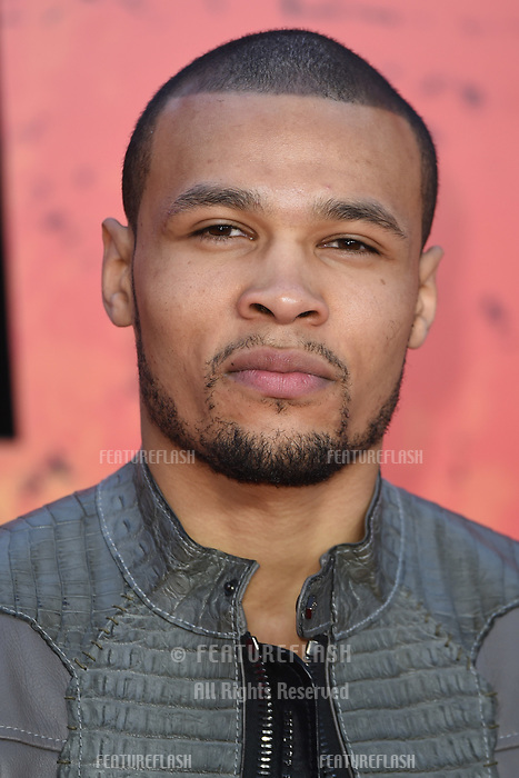 Chris Eubank Jr. arriving for the &quot;Rampage&quot; premiere at the Cineworld Empire Leicester Square, London, UK. <br /> 11 April  2018<br /> Picture: Steve Vas/Featureflash/SilverHub 0208 004 5359 sales@silverhubmedia.com