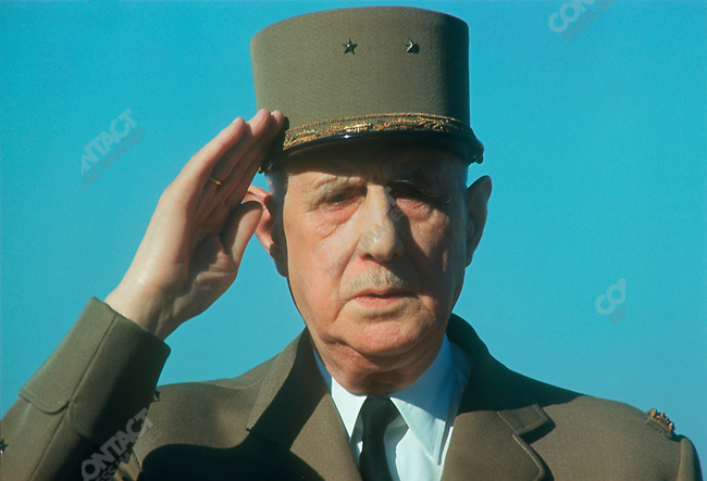 French President Charles de Gaulle, state visit, Istanbul, Turkey, October, 1968