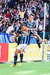 Stockholm 2014-04-27 Fotboll Allsvenskan Djurg&aring;rdens IF - IF Brommapojkarna :  <br /> Djurg&aring;rdens Aleksandar Prijovic och Djurg&aring;rdens Erton Fejzullahu jublar efter 3-2 f&ouml;r Djurg&aring;rden i den andra halvleken<br /> (Foto: Kenta J&ouml;nsson) Nyckelord:  Djurg&aring;rden DIF Tele2 Arena Brommapojkarna BP jubel gl&auml;dje lycka glad happy