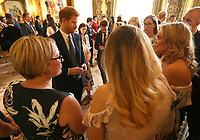 12 June 2016 - Prince Harry hosts a reception at Buckingham Palace in London to mark the 40th anniversary of the children's charity WellChild. Photo Credit: ALPR/AdMedia