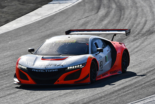 Pirelli World Challenge<br /> Intercontinental GT Challenge California 8 Hours<br /> Mazda Raceway Laguna Seca<br /> Sunday 15 October 2017<br /> Ryan Eversley, Tom Dyer, Dane Cameron, Acura NSX GT3, GT3 Overall<br /> World Copyright: Richard Dole<br /> LAT Images<br /> ref: Digital Image RD_PWCLS17_223