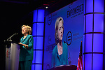 FORT LAUDERDALE,  FL - JULY 31: Democratic Presidential hopeful former Secretary of State Hillary Rodham Clinton speaks during the Presidential Candidates Plenary at the National Urban League Conference at Broward County Convention Center on Friday July 31, 2015 in Fort Lauderdale, Florida ( Photo by Johnny Louis / jlnphotography.com )