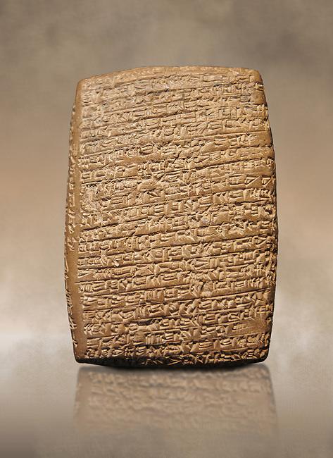 Hittite cuneiform tablet. Adana Archaeology Museum, Turkey.