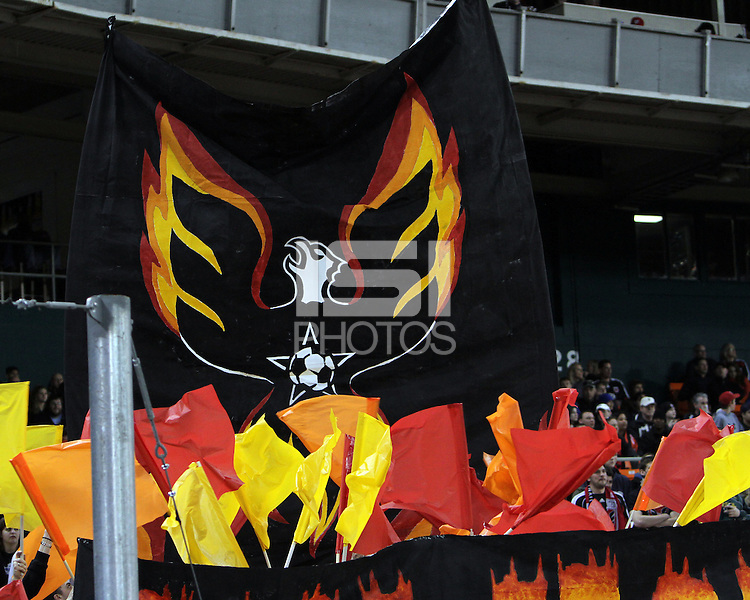 DC Ultras, fans of D.C. United during the opening match of the 2011 season against the Columbus Crew at RFK Stadium, in Washington D.C. on March 19 2011.D.C. United won 3-1.