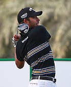 Pablo Larrazabal (ESP) during the second round of the 2013 Omega Dubai Desert Classic being played over the Majlis Golf Course, Emirates Golf Course from 31st January to 3rd February 2013: Picture Stuart Adams www.golftourimages.com/www.golffile.ie:  1st February 2013