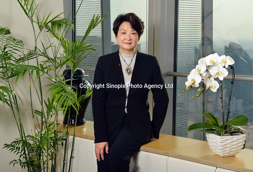 Yan Lan, Lazard's managing director in China and head of Greater China Investment Banking, poses at Lazard Beijing office. 29-Mar-2016<br /> <br /> Photo by Lou Lin Wei / Sinopix