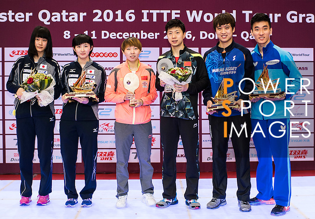 Seamaster Qatar 2016 ITTF World Tour Grand Finals at the Ali Bin Hamad Al Attiya Arena on 11 December 2016, in Doha, Qatar. Photo by Victor Fraile / Power Sport Images
