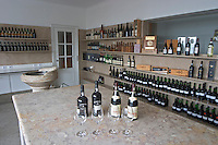 wine sample bottles in the laboratory tasting room ferreira port lodge vila nova de gaia porto portugal