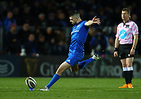 28th February 2020; RDS Arena, Dublin, Leinster, Ireland; Guinness Pro 14 Rugby, Leinster versus Glasgow; Harry Byrne (Leinster) converts a try early in the game