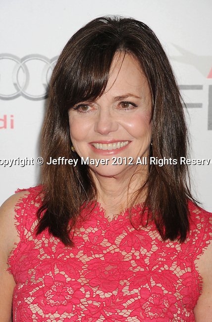 HOLLYWOOD, CA - NOVEMBER 08: Sally Field arrives at the 'Lincoln' premiere during the 2012 AFI FEST at Grauman's Chinese Theatre on November 8, 2012 in Hollywood, California.
