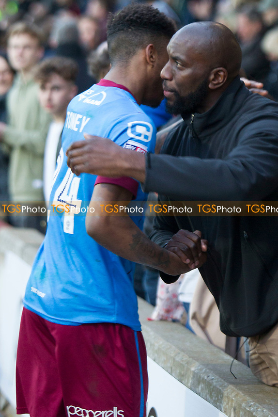 Toney gets some support from family during Scunthorpe United vs Millwall, Sky Bet EFL League 1 Play-Off Football at Glanford Park on 7th May 2017