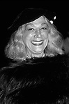 Sylvia Miles attends an Opening on September 1, 1983 in New York City.