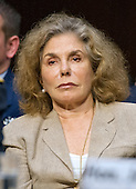 """Teresa Heinz Kerry listens to testimony during the United States Senate Foreign Relations Committee hearing on """"Authorization of Use of Force in Syria""""  on Capitol Hill in Washington, D.C. on Tuesday, September 3, 2013.  It was Ms. Kerry's first public appearance since her illness.<br /> Credit: Ron Sachs / CNP"""