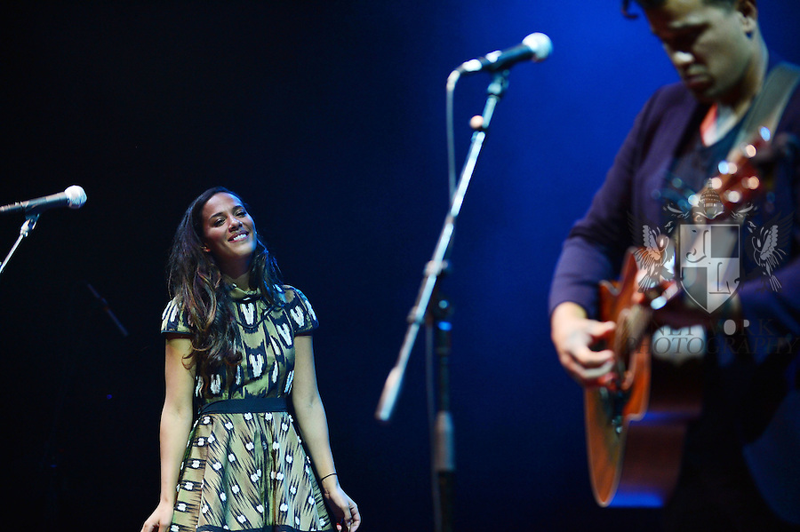 MIAMI BEACH, FL - OCTOBER 11: Amanda Sudano and Abner Ramirez of Johnnyswim performs at Fillmore Miami Beach at Jackie Gleason Theater on October 11, 2013 in Miami Beach, Florida. (Photo by Johnny Louis/jlnphotography.com)
