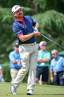 Graeme McDowell (NIR) watches his tee shot on 9 during Friday's round 2 of the PGA Championship at the Quail Hollow Club in Charlotte, North Carolina. 8/11/2017.<br /> Picture: Golffile | Ken Murray<br /> <br /> <br /> All photo usage must carry mandatory copyright credit (&copy; Golffile | Ken Murray)