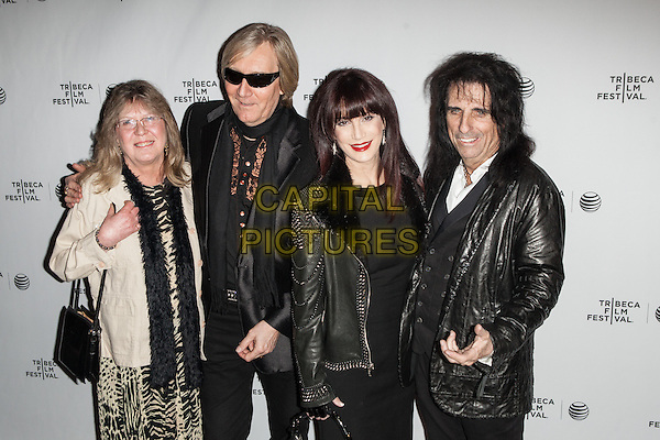 NEW YORK, NY -  APRIL17:  Rose Smith, Neal Smith, Sheryl Goddard and Alice Cooper attend the 'Super Duper Alice Cooper' premiere during the 2014 Tribeca Film Festival at Chelsea Bow Tie Cinemas on April 17, 2014 in New York City.<br />  <br /> CAP/MPI/COR<br /> &copy;Corredor99/ MediaPunch/Capital Pictures