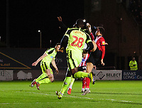 Lincoln City's Harry Anderson scores the opening goal<br /> <br /> Photographer Chris Vaughan/CameraSport<br /> <br /> The EFL Sky Bet League One - Lincoln City v Bolton Wanderers - Tuesday 14th January 2020  - LNER Stadium - Lincoln<br /> <br /> World Copyright © 2020 CameraSport. All rights reserved. 43 Linden Ave. Countesthorpe. Leicester. England. LE8 5PG - Tel: +44 (0) 116 277 4147 - admin@camerasport.com - www.camerasport.com