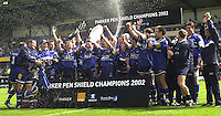 26/05/2002.Sport -Rugby Union - Parker Pen Shield Final.Sale vs Pontypridd.. Sale celebration    [Mandatory Credit, Peter Spurier/ Intersport Images].