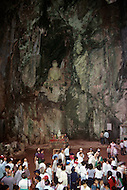 Danang, February 1988.  Budha Temple near the Marble Mountains in Danang.