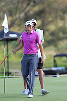 Peter Uihlein (USA) on the 2nd green during Round 2 of the KLM Open at Kennemer Golf &amp; Country Club on Friday 12th September 2014.<br /> Picture:  Thos Caffrey / www.golffile.ie