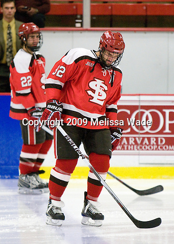 Aaron Bogosian (St. Lawrence - 32) was announced as a starter. - The St. Lawrence University Saints defeated the Harvard University Crimson 3-2 on Friday, November 20, 2009, at the Bright Hockey Center in Cambridge, Massachusetts.