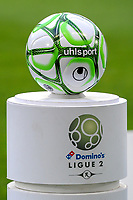 20191221 - LENS , FRANCE : matchball pictured before the soccer match between Racing Club de LENS and Niort , on the 19 th matchday in the French Ligue 2 at the Stade Bollaert Delelis stadium , Lens . Saturday 21 December 2019. PHOTO STIJN AUDOOREN   SPORTPIX.BE