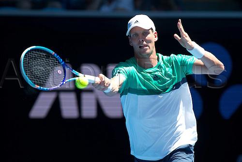 18.01.2016. Melbourne Park, Melbourne, Australia. Australian Open Tennis championships. Tomas Berdych (Czech) mens singles