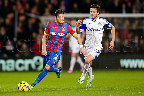 03.11.2014.  London, England. Premier League. Crystal Palace versus Sunderland.  Crystal Palace's Joel Ward in action