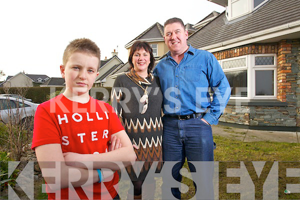 Ronan Fitzgerald with his parents Brian and Sheila Marie at their home in the Spa Tralee.