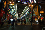 Sapporo &egrave; la citt&agrave; pi&ugrave; importante dell'isola di Hokkaido. E' una tipica citt&agrave; giapponese moderna. Nella foto una veduta notturna del quartiere di Odori famoso per i suoi negozi e shopping Center<br /> &copy; Paolo della Corte