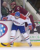 Mike Potacco, Peter Harrold - The Boston College Eagles defeated the University of Massachusetts-Lowell River Hawks 4-3 in overtime on Saturday, January 28, 2006, at the Paul E. Tsongas Arena in Lowell, Massachusetts.