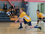 Blach Junior High at Egan Junior High Boys 7th grade volleyball.  January 26, 2016