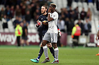 David De Gea and Paul Pogba of Manchester United after West Ham United vs Manchester United, Premier League Football at The London Stadium on 10th May 2018