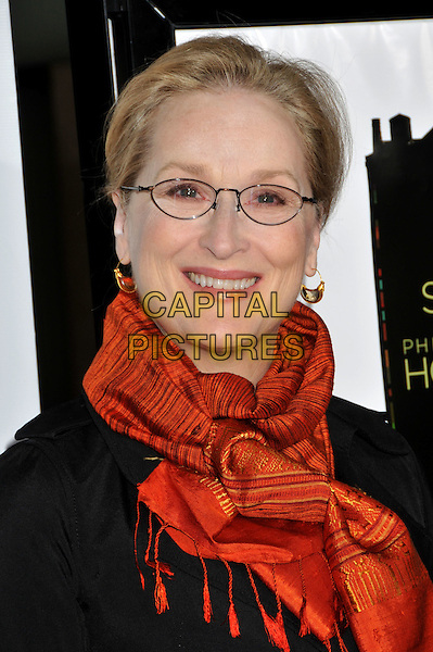 "MERYL STREEP.AFI Fest 2008 Opening Night Gala Premiere of ""Doubt"" at ArcLight Cinemas, Hollywood, California, USA..October 30th, 2008.headshot portrait glasses orange scarf .CAP/ADM/BP.©Byron Purvis/AdMedia/Capital Pictures."