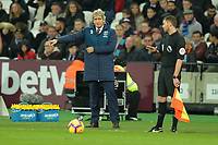 West Ham Manager Manuel Pellegrini during West Ham United vs Cardiff City, Premier League Football at The London Stadium on 4th December 2018