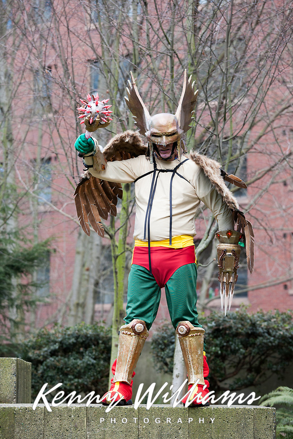 Hawkman, Emerald City Comicon 2018, Seattle, Washington, USA.