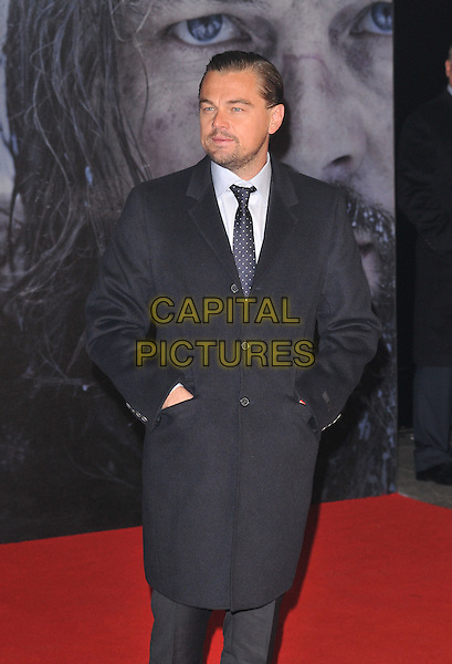 Leonardo DiCaprio attends the &quot;The Revenant&quot; UK film premiere, Empire cinema, Leicester Square, London, UK, on Thursday 14 January 2016.<br /> CAP/CAN<br /> &copy;Can Nguyen/Capital Pictures