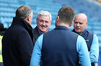 Sheffield Wednesday manager Steve Bruce shares a joke with Blackburn Rovers manager Tony Mowbray <br /> <br /> Photographer David Shipman/CameraSport<br /> <br /> The EFL Sky Bet Championship - Sheffield Wednesday v Blackburn Rovers - Saturday 16th March 2019 - Hillsborough - Sheffield<br /> <br /> World Copyright &copy; 2019 CameraSport. All rights reserved. 43 Linden Ave. Countesthorpe. Leicester. England. LE8 5PG - Tel: +44 (0) 116 277 4147 - admin@camerasport.com - www.camerasport.com