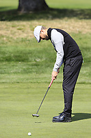 Rikard Karlberg (SWE) putts on the 9th green during Thursday's Round 1 of the 2017 Omega European Masters held at Golf Club Crans-Sur-Sierre, Crans Montana, Switzerland. 7th September 2017.<br /> Picture: Eoin Clarke | Golffile<br /> <br /> <br /> All photos usage must carry mandatory copyright credit (&copy; Golffile | Eoin Clarke)