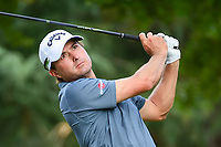 Kevin Kisner (USA) watches his tee shot on 11 during Saturday's round 3 of the PGA Championship at the Quail Hollow Club in Charlotte, North Carolina. 8/12/2017.<br /> Picture: Golffile | Ken Murray<br /> <br /> <br /> All photo usage must carry mandatory copyright credit (&copy; Golffile | Ken Murray)