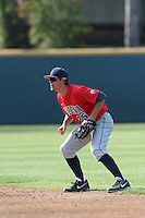 Scott Kingery (25) of the Arizona Wildcats in the field during a game against the UCLA Bruins at Jackie Robinson Stadium on May 16, 2015 in Los Angeles, California. UCLA defeated Arizona, 6-0. (Larry Goren/Four Seam Images)
