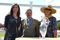 Andrew Balding and family members during Father's Day Racing at Salisbury Racecourse on 18th June 2017