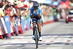 Nairo Quintana (COL) Movistar Team wins solo Stage 2 of La Vuelta 2019 running 199.6km from Benidorm to Calpe, Spain. 25th August 2019.<br /> Picture: Luis Angel Gomez/Photogomezsport | Cyclefile<br /> <br /> All photos usage must carry mandatory copyright credit (© Cyclefile | Luis Angel Gomez/Photogomezsport)