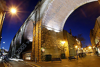 Mansfield viaduct looks amazing all lit up at night - a fine example of stunning architecture, this old bridge used to carry all the coal wagons to and from Mansfiel pit