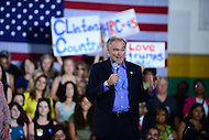 Annandale, VA - July 14, 2016: U.S. Senator Tim Kaine speaks during a campaign rally with Hillary Clinton at the Ernst Community Cultural Center on the grounds of the Northern Virginia Community College, July 14, 2016. Sen. Kaine is reportedly being considered as Clinton's vice presidential running mate.  (Photo by Don Baxter/Media Images International)