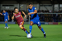 Jack Payne of Bradford City and Kwesi Appiah of AFC Wimbledon during AFC Wimbledon vs Bradford City, Sky Bet EFL League 1 Football at the Cherry Red Records Stadium on 2nd October 2018
