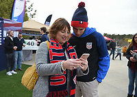 Cary, N.C. - Tuesday March 27, 2018: USA supporters during an International friendly game between the men's national teams of the United States (USA) and Paraguay (PAR) at Sahlen's Stadium at WakeMed Soccer Park.