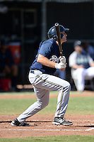 Milwaukee Brewers first baseman Dustin DeMuth (53) during an Instructional League game against the Seattle Mariners on October 4, 2014 at Peoria Stadium Training Complex in Peoria, Arizona.  (Mike Janes/Four Seam Images)